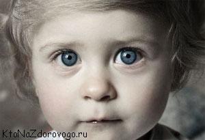 Красивые глаза ребенка